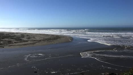 California-Salmon-Creek-Waves-On-Beach-Zoom-Out