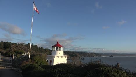 California-Trinidad-Memorial-Lighthouse-With-Flag