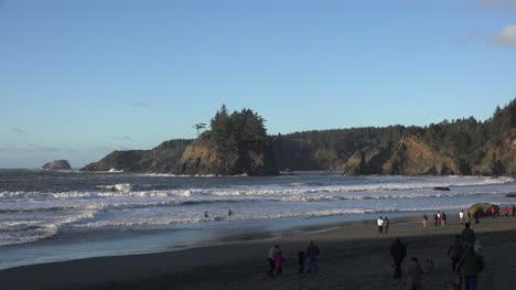 California-Trinidad-People-On-Town-Beach