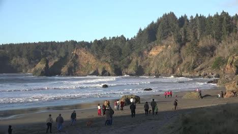 California-Trinidad-Town-Beach-People-Strolling