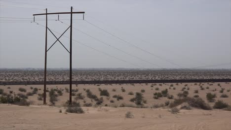 California-Power-Poles-And-Fence