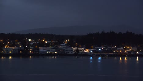 Oregon-Siuslaw-River-At-Florence-At-Night-With-Lights