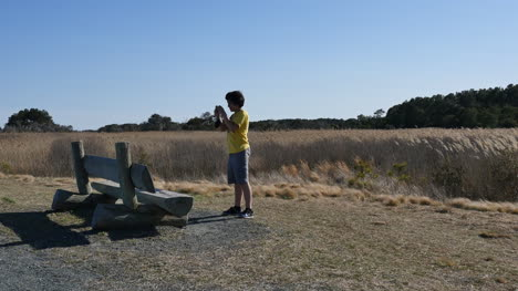 Virginia-Chincoteague-Boy-Takes-Photograph