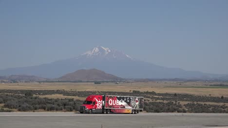California-Mount-Shasta-With-Truck-On-Highway