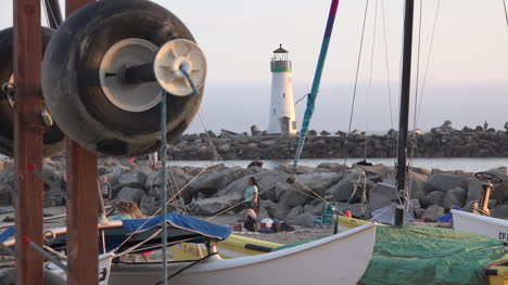 California-Santa-Cruz-Sailboats-And-Lighthouse
