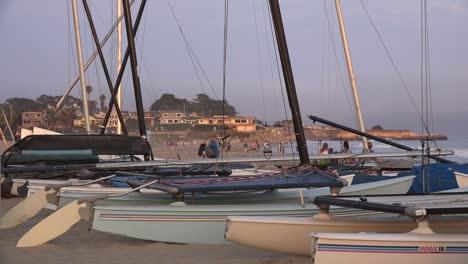 California-Santa-Cruz-Sailboats-On-Shore