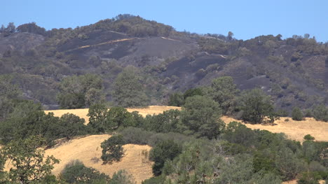 California-Burned-Area-On-Hills