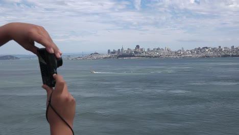 California-Hands-Hold-Camera-To-Shoot-San-Francisco
