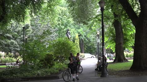 Oregon-Portland-Bikes-In-A-Park