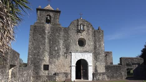Texas-Goliad-Presidio-La-Bahia-Church-Door-And-Bell-Tower