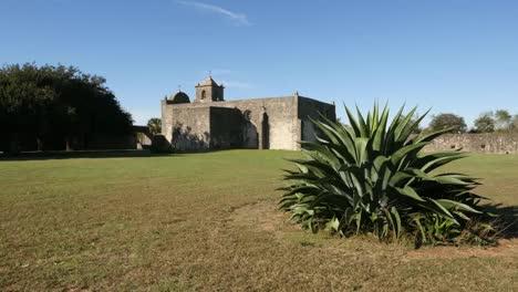Texas-Goliad-Presidio-La-Bahia-With-Maguey-Plant