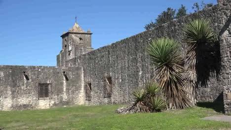 Texas-Goliad-Presidio-La-Bahia-Yucca-By-Wall