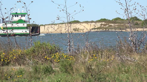 Texas-Port-Aransas-Work-Boat-In-Canal