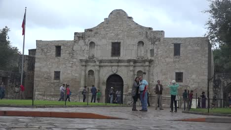 Texas-San-Antonio-Alamo-With-Tourists