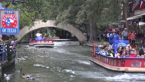 Texas-San-Antonio-River-Walk-Barges-Go-By
