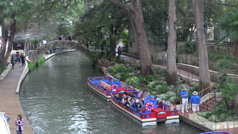 Texas-San-Antonio-Barges-Parked-On-River