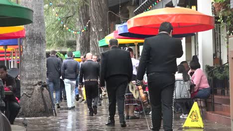 Texas-San-Antonio-People-Walking-With-Mariachis