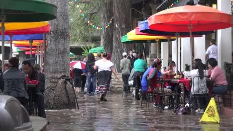 Texas-San-Antonio-Server-In-Mexican-Restaurant