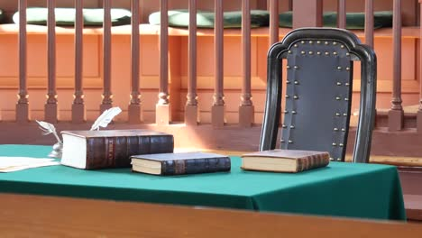 Virginia-Colonial-Williamsburg-Books-On-A-Table-Zoom
