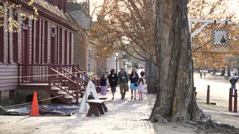 Virginia-Colonial-Williamsburg-Brick-Sidewalk-And-Tourists