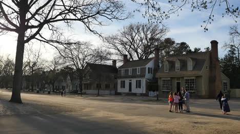 Virginia-Colonial-Williamsburg-People-On-Backlit-Street