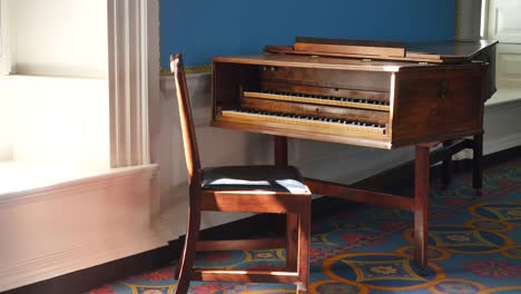 Virginia-Colonial-Williamsburg-Piano-And-Chair