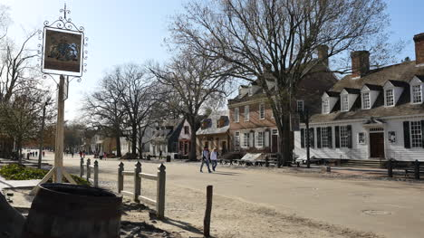 Virginia-Colonial-Williamsburg-View-Of-Street-And-Houses