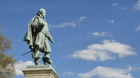 Virginia-Jamestown-John-Smith-Statue-And-Clouds