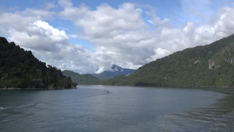 Chile-Aisen-Fjord-Zooms-On-Distant-Mountain