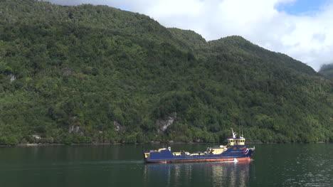 Chile-Work-Boat-Sails-Along-Pan