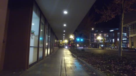 Oregon-Eugene-Going-Down-Night-Sidewalk