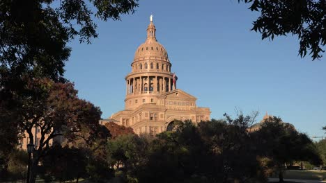 Texas-Austin-Capitol-Dome-With-Tree-Frame