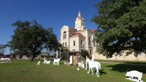 Texas-Bandera-Courthouse-And-Christmas-Scene