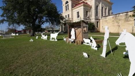 Texas-Bandera-Courthouse-Passing-Manger-Scene