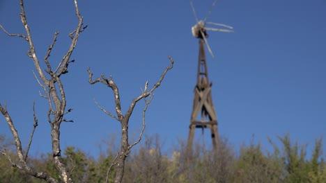 Texas-Big-Bend-Broken-Windmill-And-Trees-Sam-Nail-Ranch