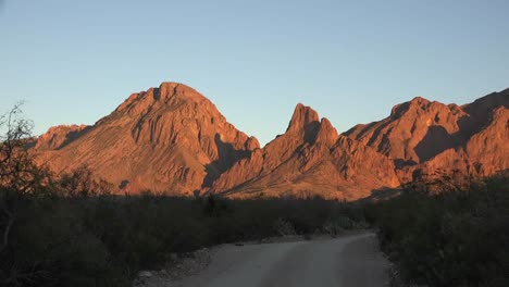 Texas-Big-Bend-Mountains-In-Evening-Zoom-In