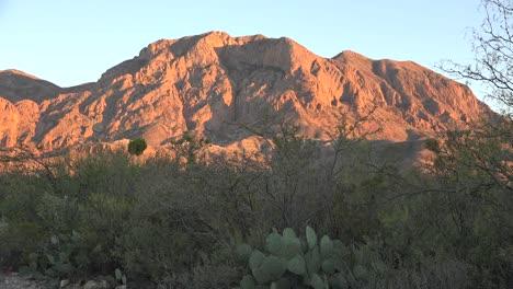 Texas-Big-Bend-Rugged-Mountain-In-Evening