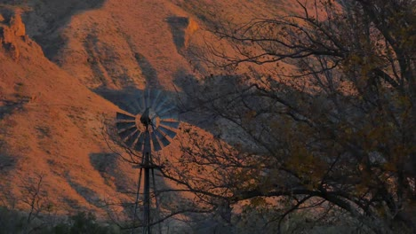 Texas-Big-Bend-Windmill-In-Evening-Sam-Nail-Ranch