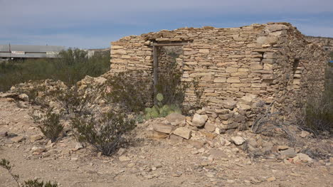 Texas-Terlingua-Stone-Ruin-With-Distant-Trading-Center-Zoom-Out