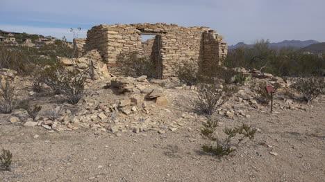 Texas-Terlingua-Stone-Ruin-With-Distant-Car