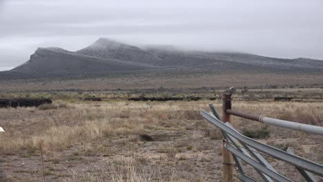 Texas-Western-Landscape-With-Gate-And-Mountains