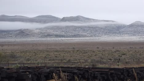 Texas-Western-Landscape-With-Low-Clouds-And-Hills