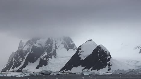 Antarctica-Lemaire-Channel-Dark-Horn-And-Glacier