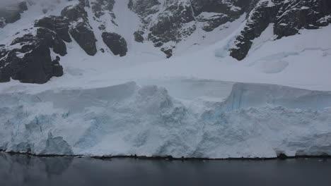 Antarctica-Lemaire-Ice-On-Waters-Edge