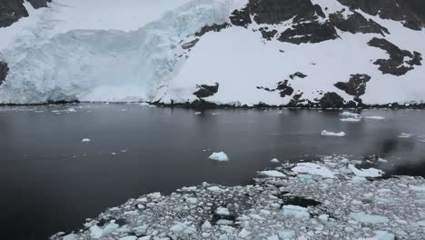Antarctica-Lemaire-Tilts-Up-From-Small-Ice-Pieces