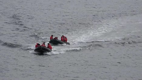 Antarctica-Palmer-Station-Inflatable-Boats-Coming