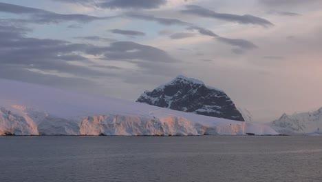 Antarctica-Black-Spike-Above-Pink-Ice