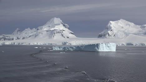 Antarctica-Flat-Top-Iceberg-And-Ship-Wake-Ripples