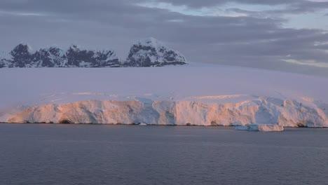 Antarctica-Glow-On-Ice-Shelf
