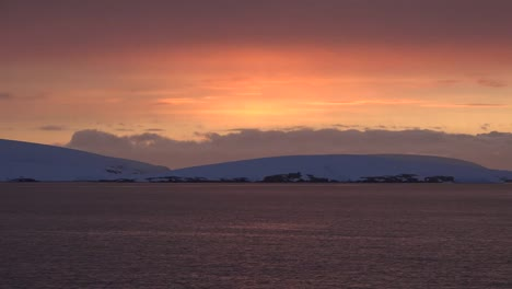 Antarctica-Rounded-Island-After-Sunset